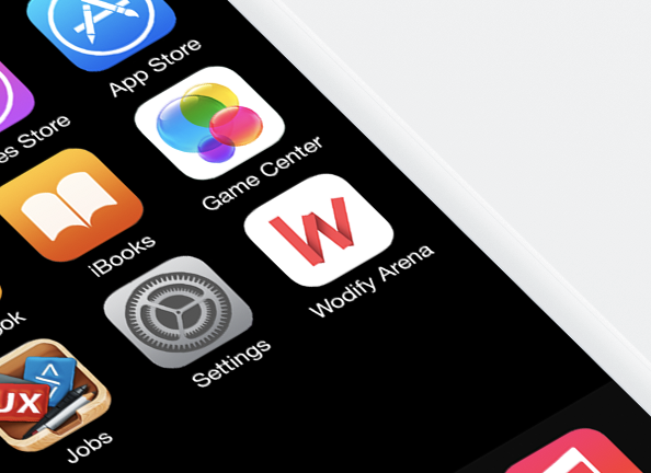 Wodify Rise app button