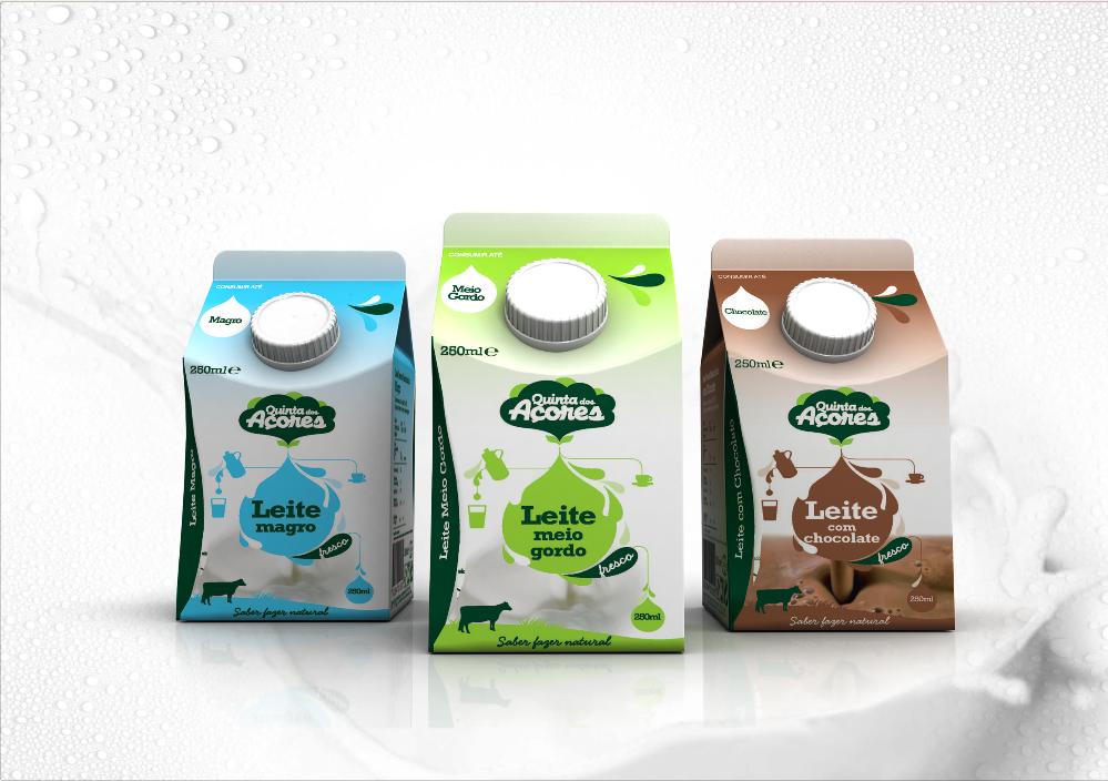 Quinta dos Açores leite packaging