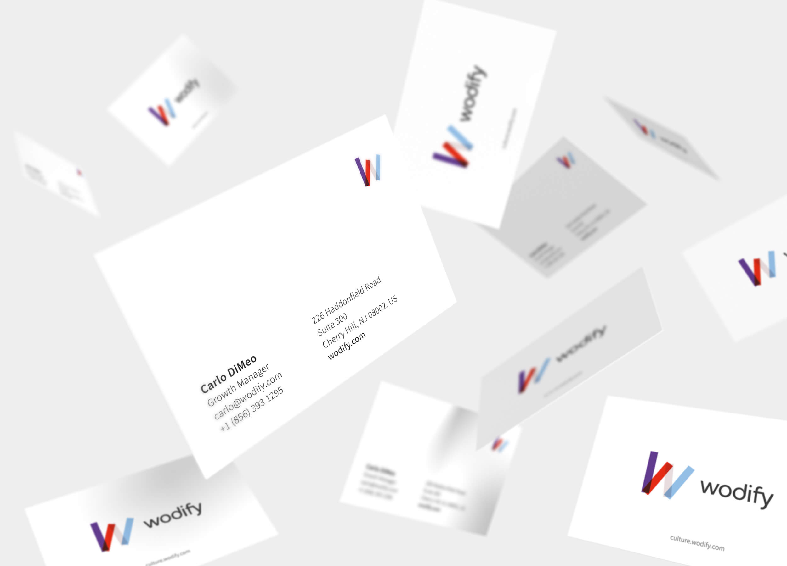 Branding Wodify business cards