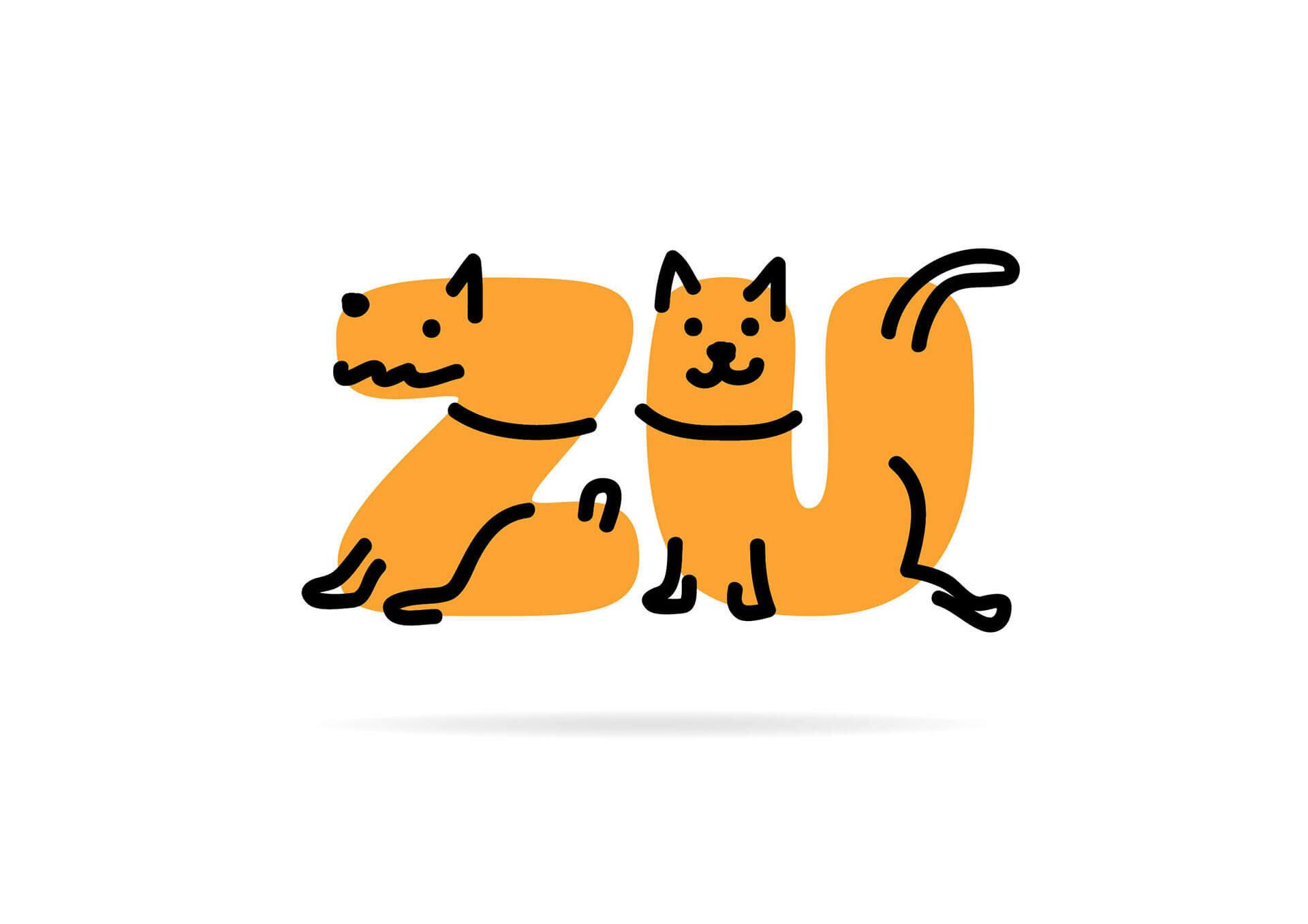 Zu logo sonae petcare logo illustration