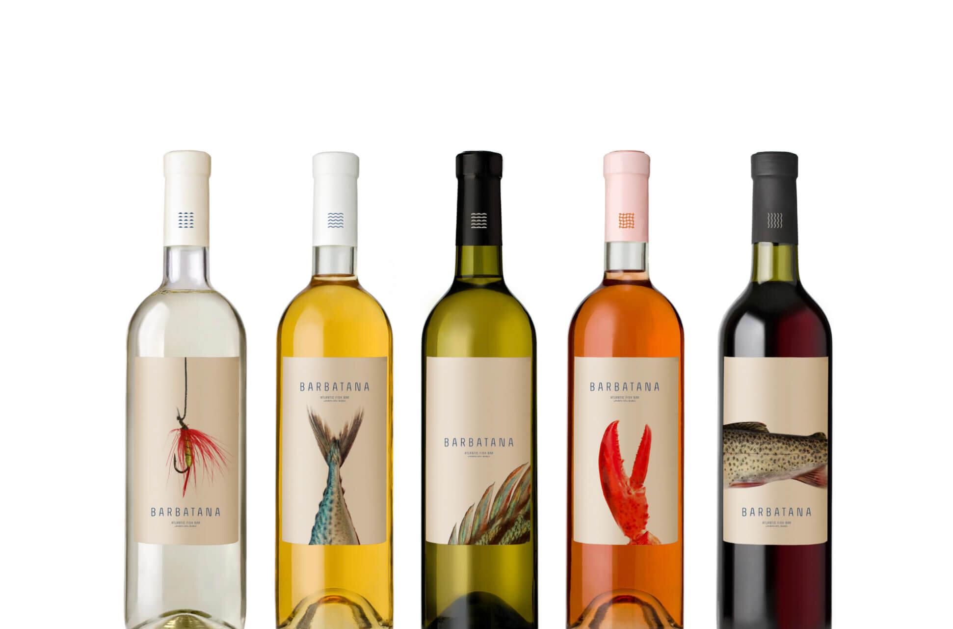 Barbatana restaurant brand packaging wine