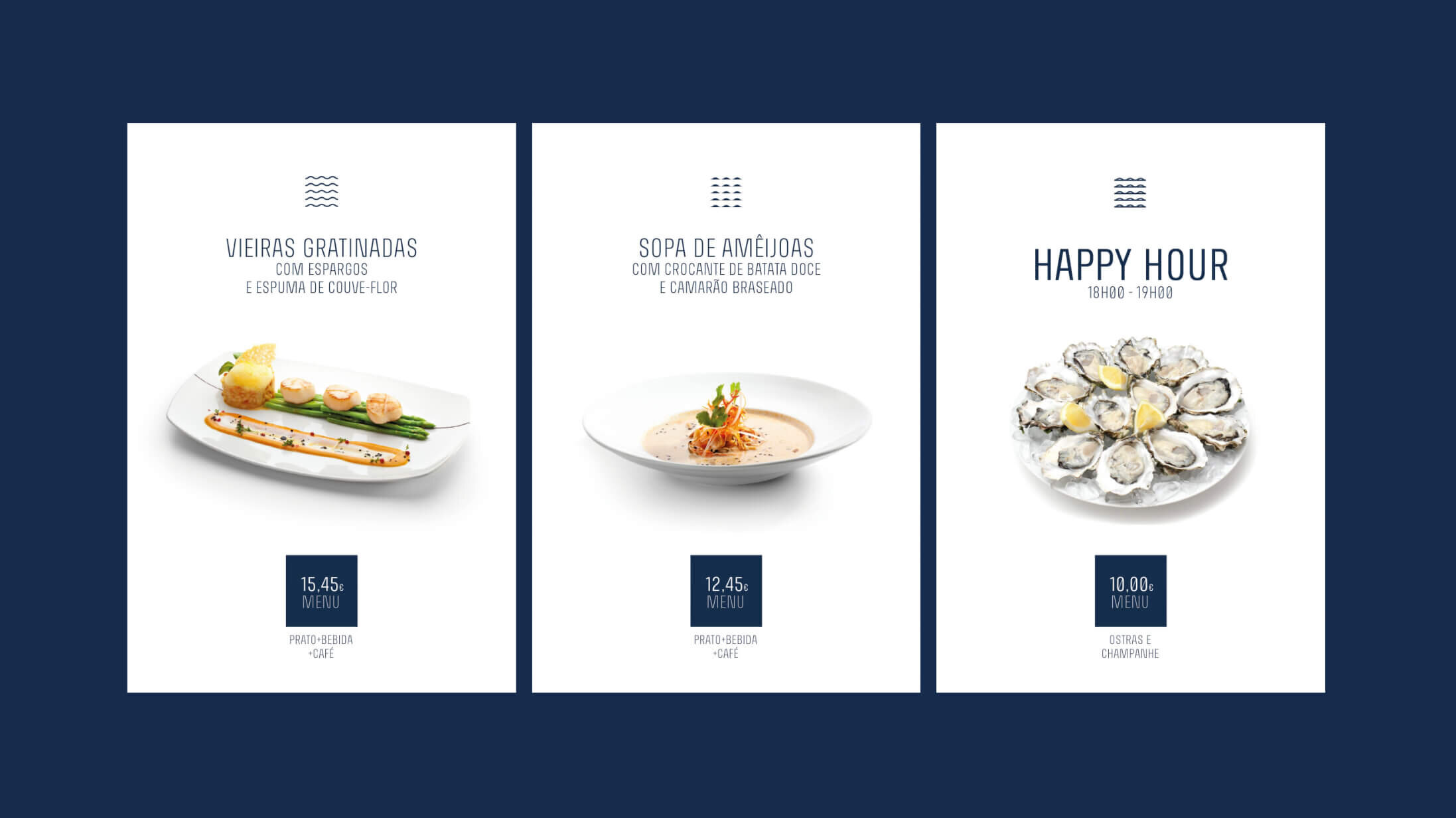 Barbatana restaurant brand menuboard