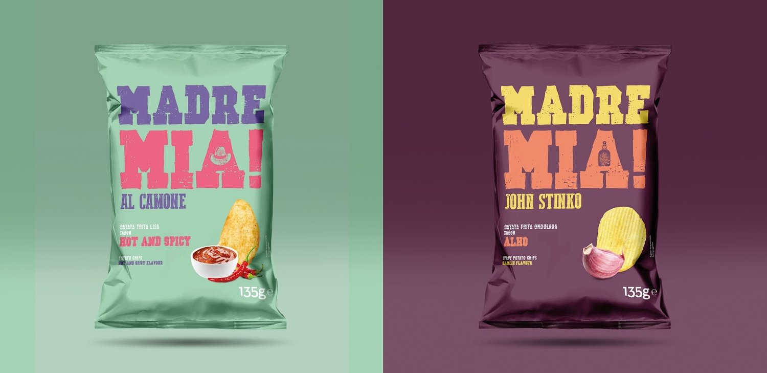 Madre Mia! packaging chips