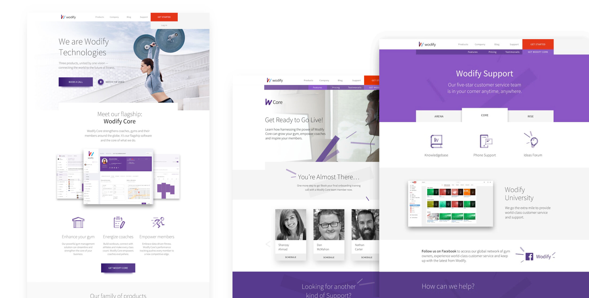 Branding wodify website ui/ux
