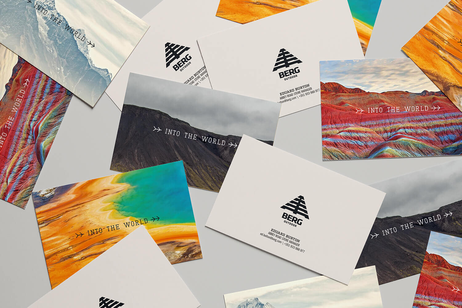 Branding project rebrand Berg Outdoor