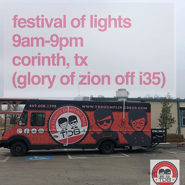 We're at it again at FESTIVAL of LIGHTS at the @gsccorinth so make sure to stop by! Food, craft vendors! #supportlocal #shoplocal #dumplings #foodtruck #whatrain #openforbusiness @whenindenton @dentonfoodblog @dentonfoodie @dentonfoodporn @foodiesindenton