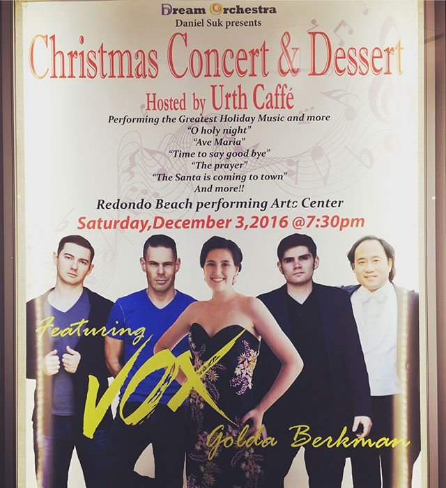Happy #december everybody! Thinking back to a year ago when we debuted with the @dreamorchestraoflosangeles for an evening of holiday favorites! Do you want to see #vox put on a holiday show near you? Let us know in the comments! #manband #voxsings #happyholidays