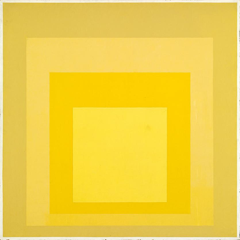 Hubble's colors, especially the orange-yellow set, remind me of this Albers piece.