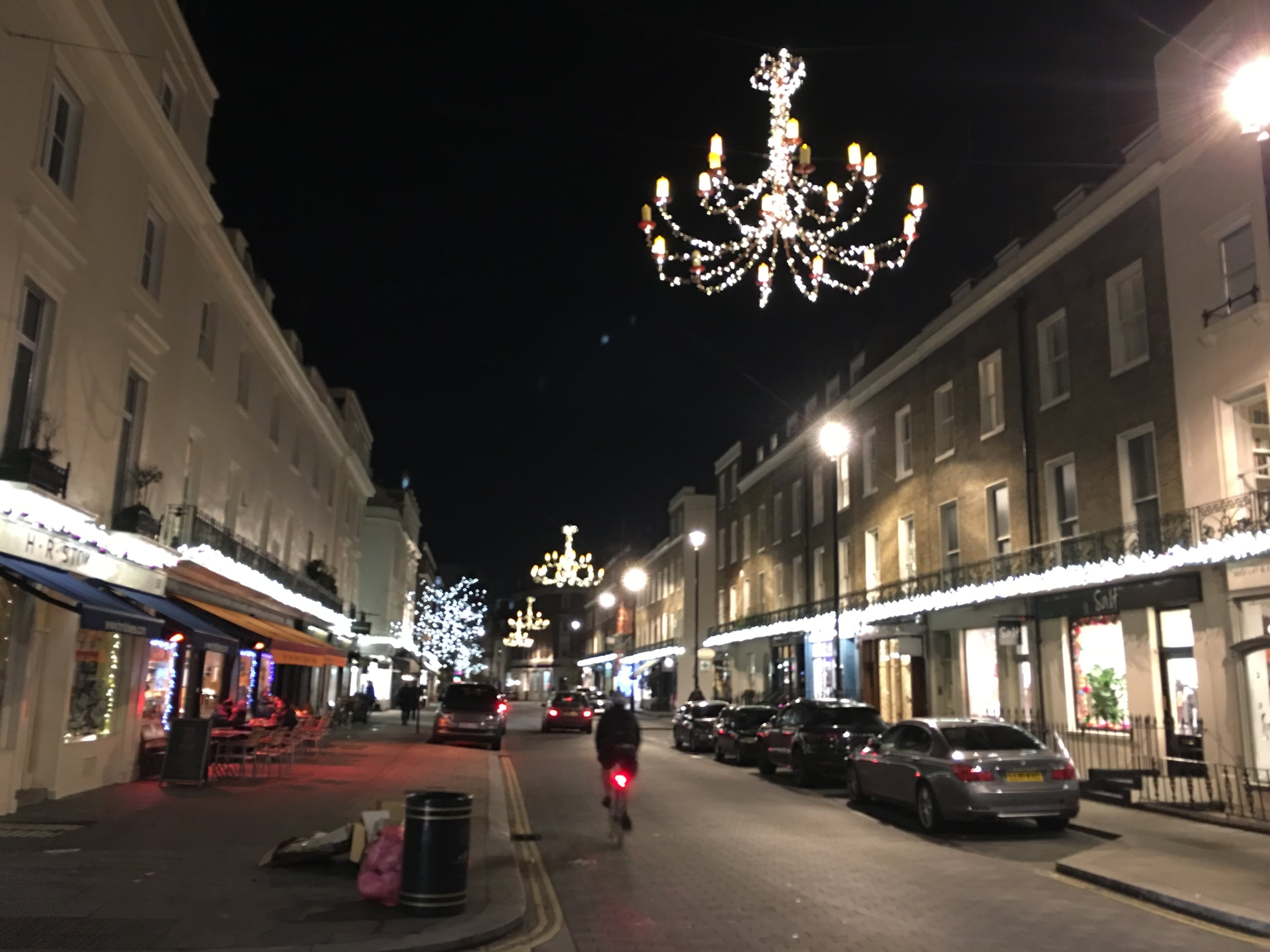 Swanky street decorations in Belgravia