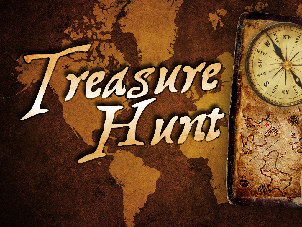 The logo for the village treasure hunt was designed by a committee of faceless strangers who refused to be named