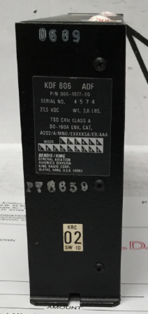 PN: 066-1077-00 | $1,650 USD Description: ADF RECEIVER  Condition: OH Trace: AIR CANADA JAZZ TRACE & OUR COC Cert Date: FRESH TAGS 8130-3 (Dated 05/17/16) Lead Time: STOCK