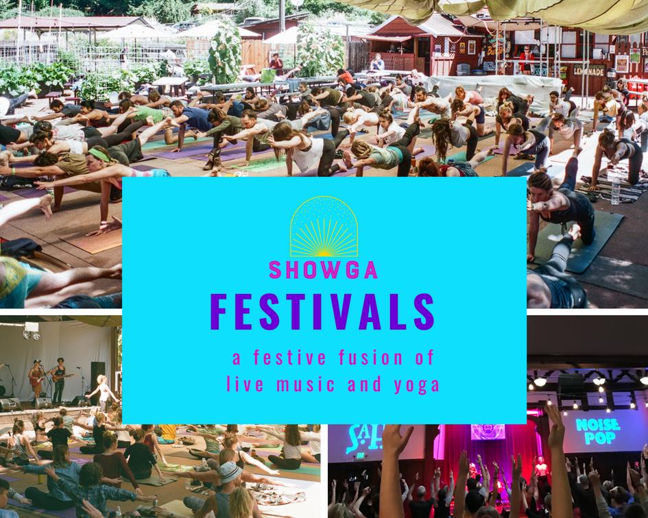 Showga at Music Festivals