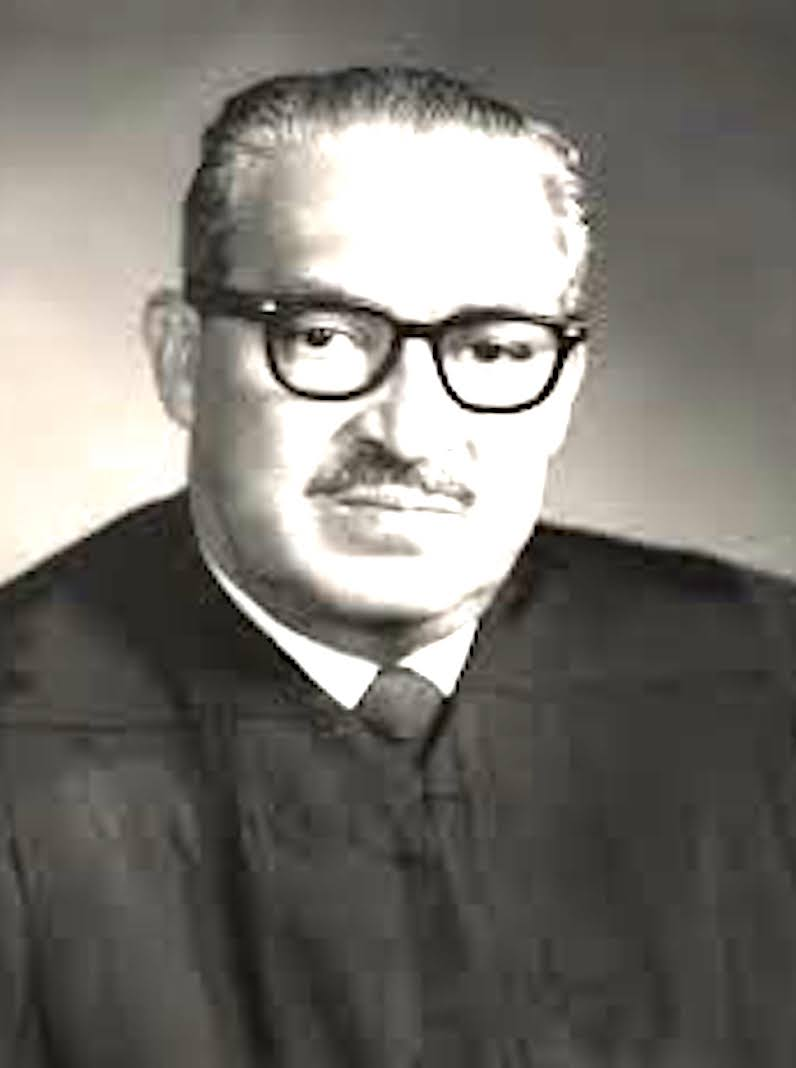Thurgood Marshall - Thurgood Marshall was an American lawyer, serving as Associate Justice of the Supreme Court of the United States from October 1967 until October 1991. Marshall was the Court's 96th justice and its first African-American justice.Born in Baltimore in 1908, he earned his undergraduate degree at Lincoln University, where he pledged Alpha Phi Alpha Fraternity, and later graduated from Howard University School of Law in 1933. He set up a private law practice before founding the NAACP Legal Defense and Educational Fund, where he served as executive director.During his time with the NAACP, he argued 32 cases before the Supreme Court and won nearly all of them - including Brown v. Board of Education, which held that racial segregation in public education is a violation of the Equal Protection Clause. He spent most of his adult life fighting for the fair treatment of African Americans.In 1961, President John F. Kennedy appointed Marshall to United States Court of Appeals for the Second Circuit. 1967, President Lyndon Johnson successfully nominated Marshall to succeed retiring Associate Justice Tom C. Clark. Marshall retired during the administration of President George H. W. Bush, and was succeeded by Clarence Thomas.Marshall retired from the Supreme Court in 1991 due to declining health and died of heart failure two years later.