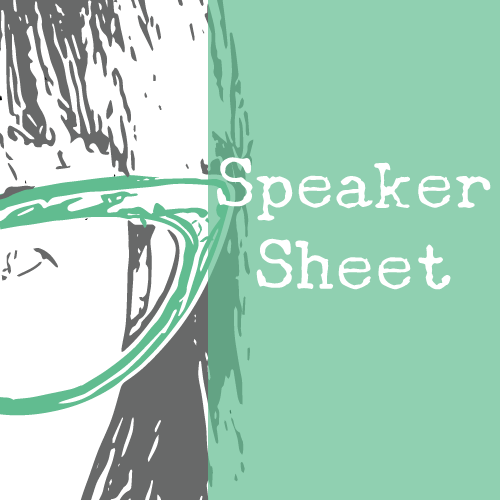 Speaker Sheet - To promote and communicate about my speaking specialties to booking agents, meeting planners, and others who might book me to speak, I created a speaker one-sheet.