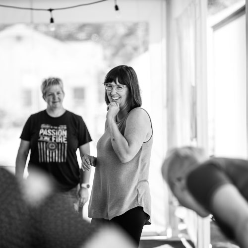 Me, leading another fun, interactive, get into your body and lead from within workshop.