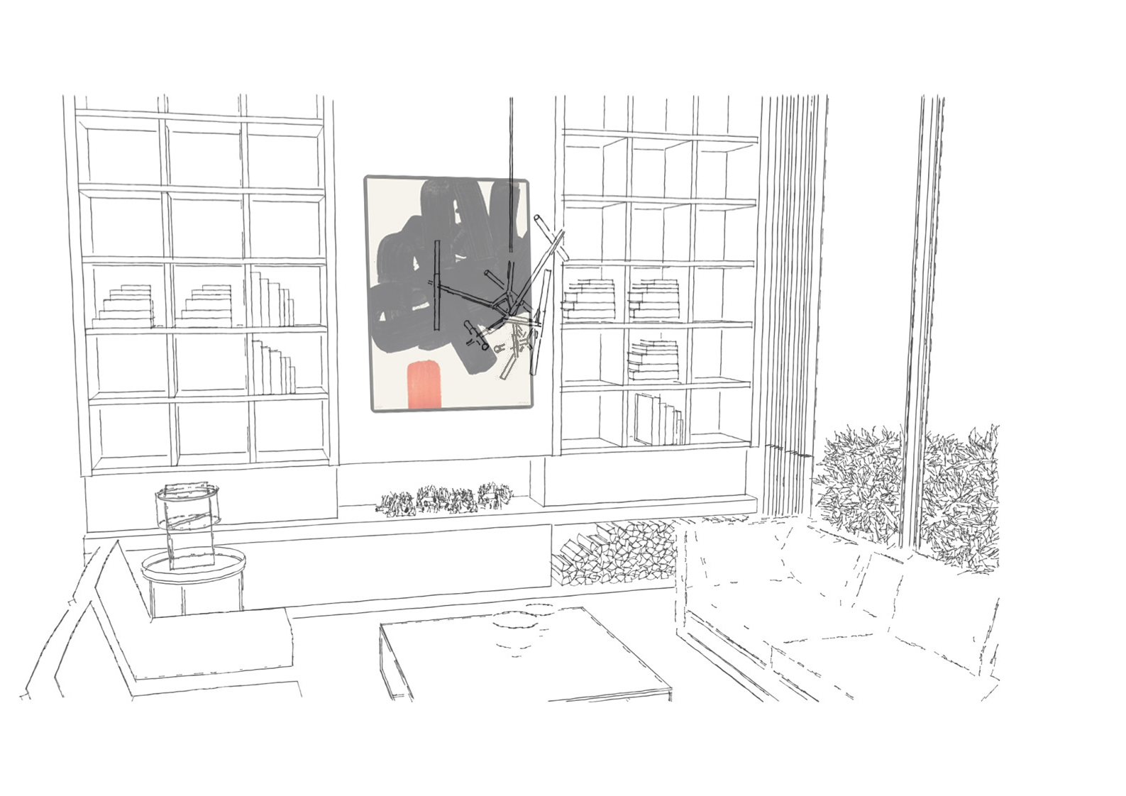 Concept image of a living room