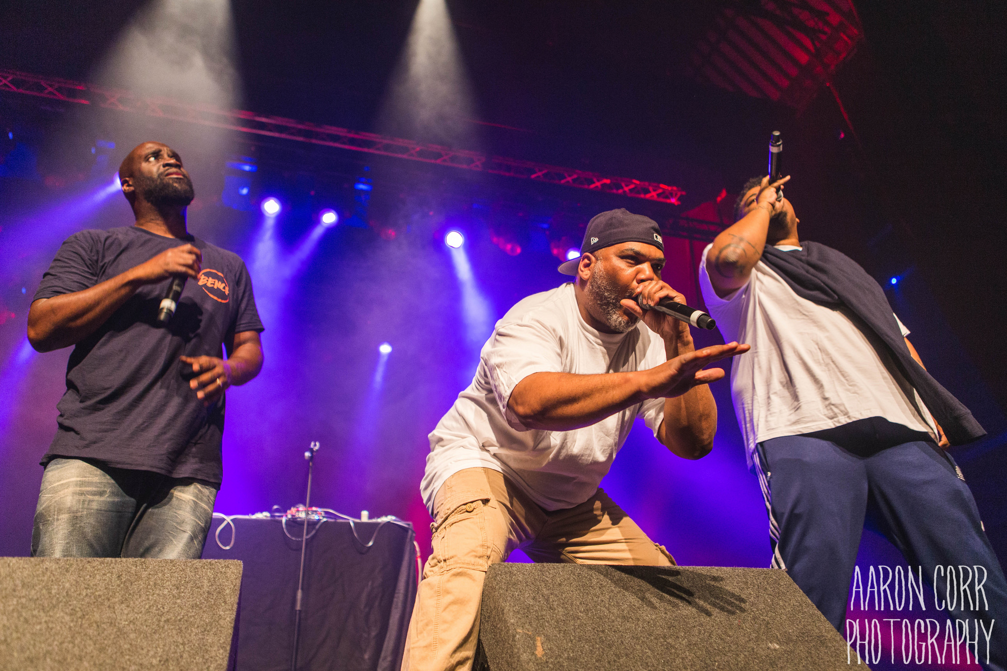 My first gig of June was the beloved hip hop group De La Soul. The guys were fun to shoot, animated, walking the length and breadth of the stage and giving some good poses for the cameras. The lights were consistent, the only problem often being when a band member was too close to the front, by the sides of the stage and were in shadow. The most confusing part was when all the photographers would look at each other in between a song wondering if we had covered the first three songs or not, because everything bled into one another early in the set. Overall they were a great band to shoot.