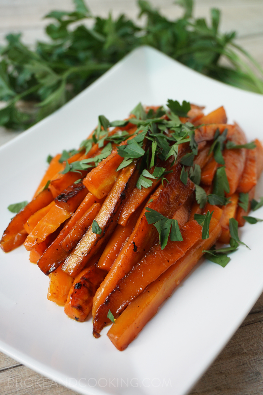 Easy, delicious Maple Glazed Carrots for holiday meals