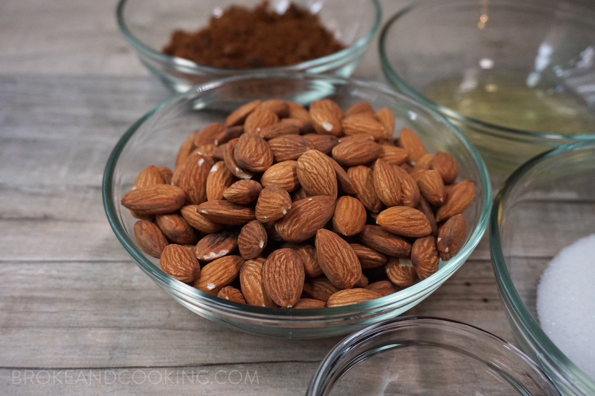 Raw, unsalted almonds