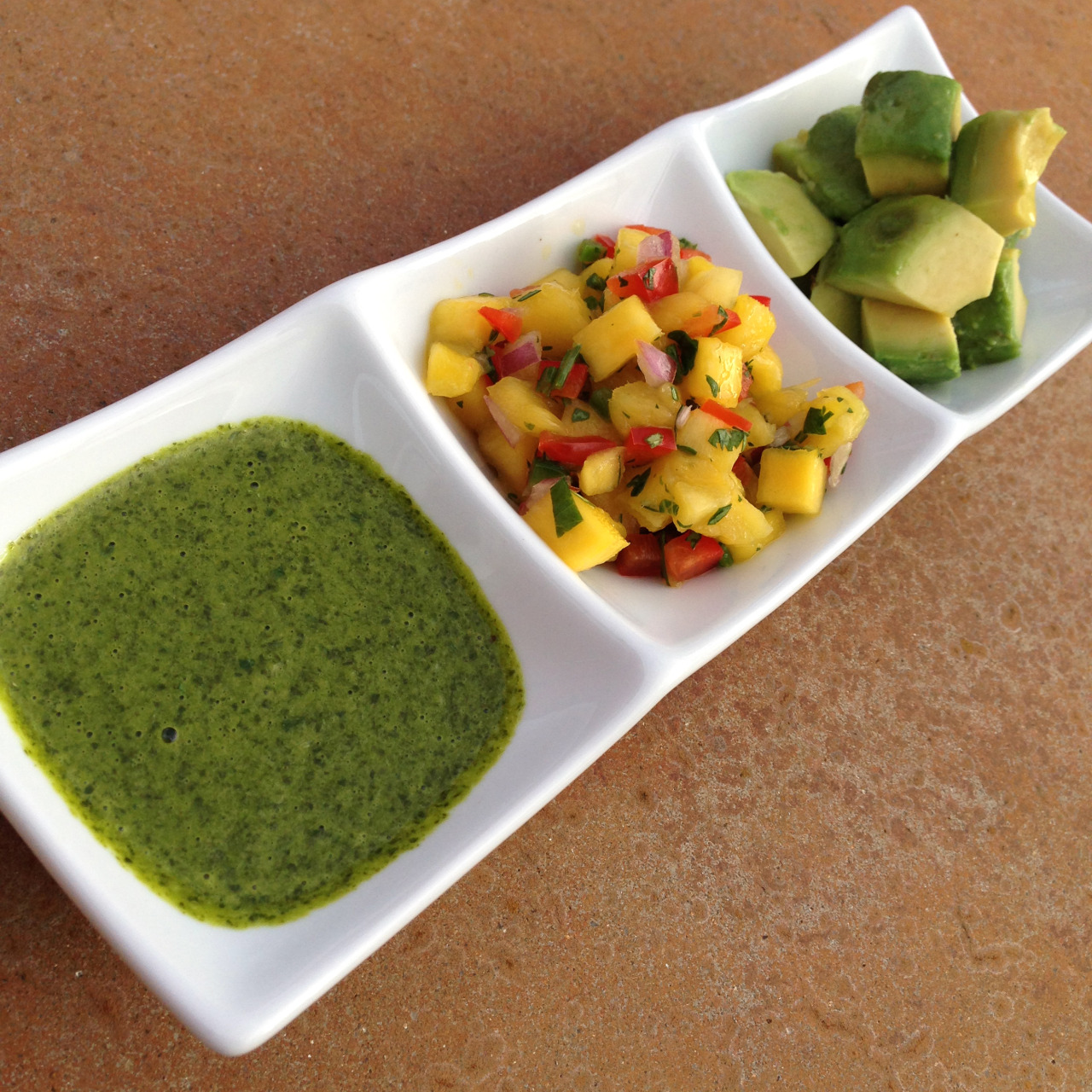 Cilantro-Lime Vinaigrette, Mango Salsa, and Avocado - The perfect toppings for Baked Fish Tacos!