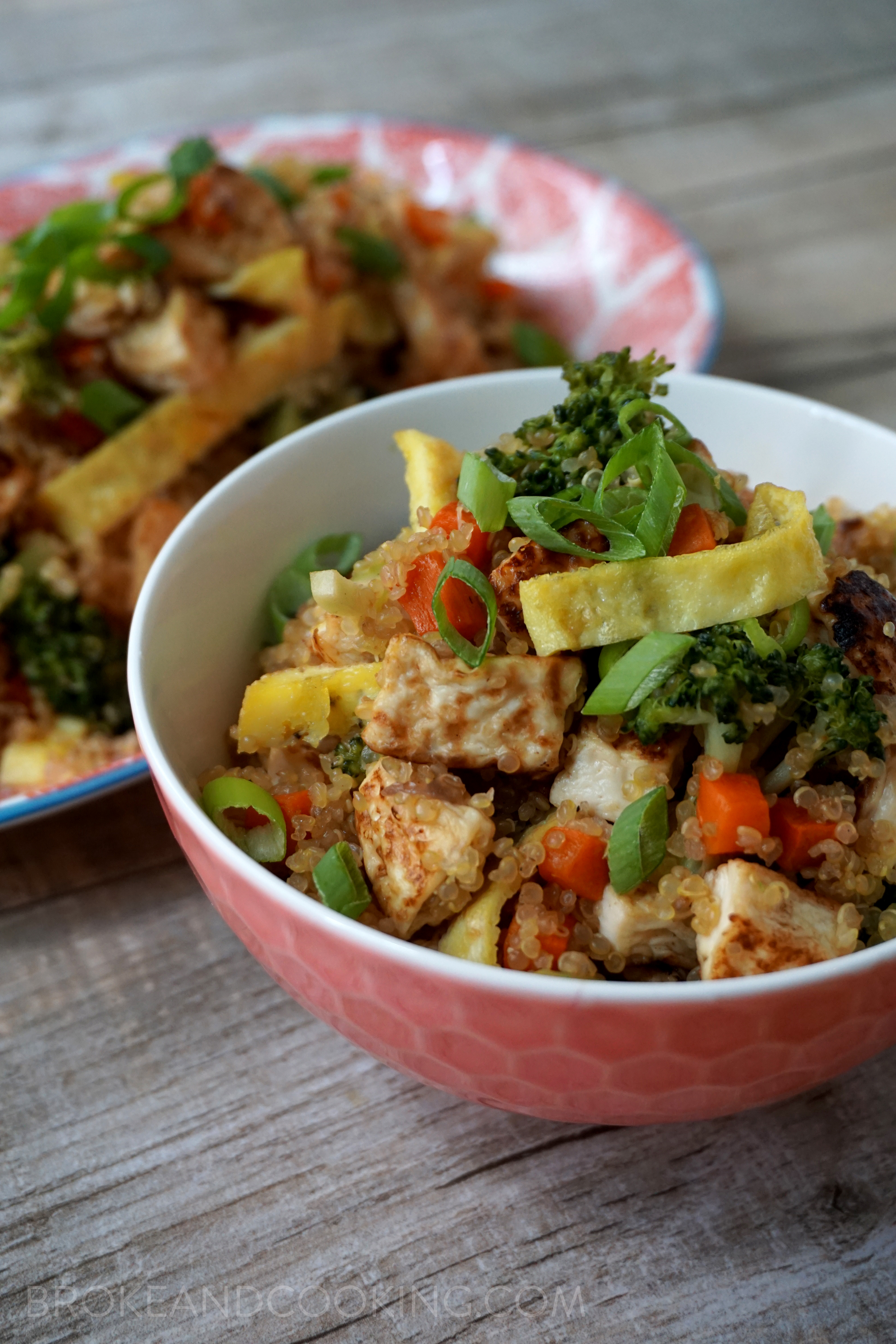 Broke and Cooking Quinoa Fried Rice