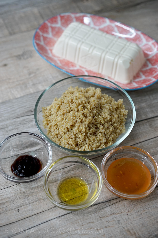 Quinoa, Oyster Sauce, EVOO, Plum Sauce
