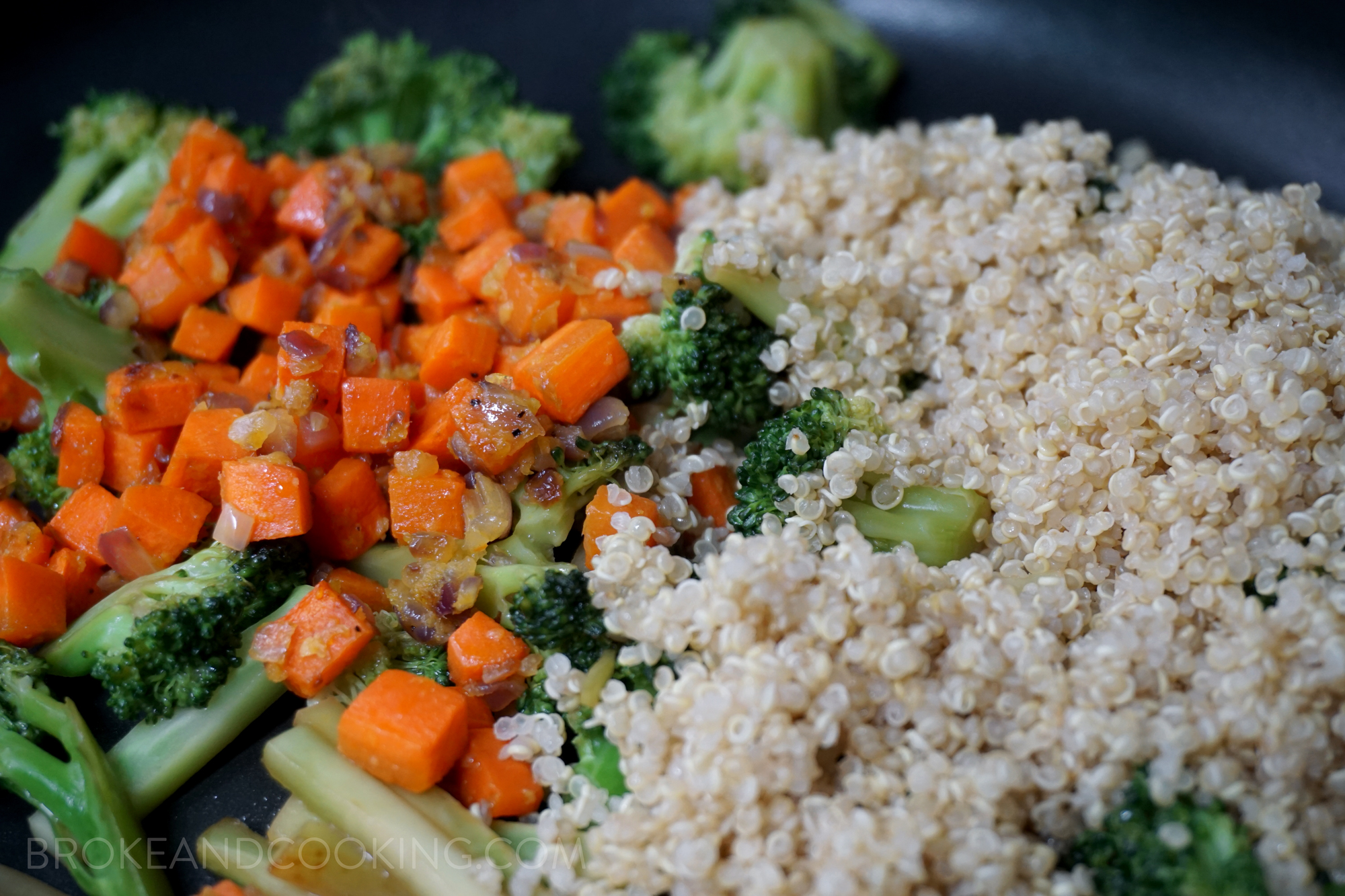 Broke and Cooking Quinoa Fried Rice 17
