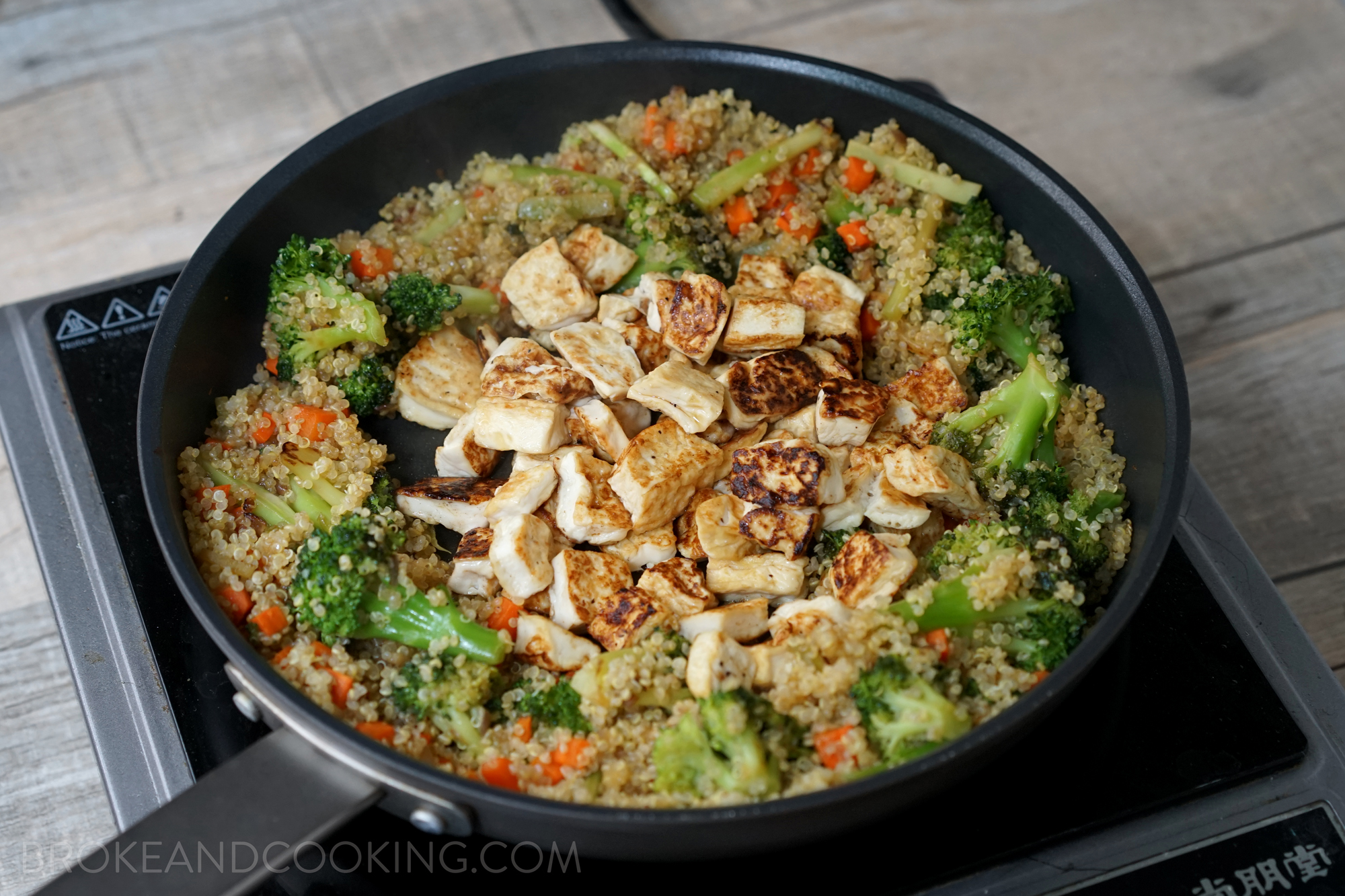 Broke and Cooking Quinoa Fried Rice 18