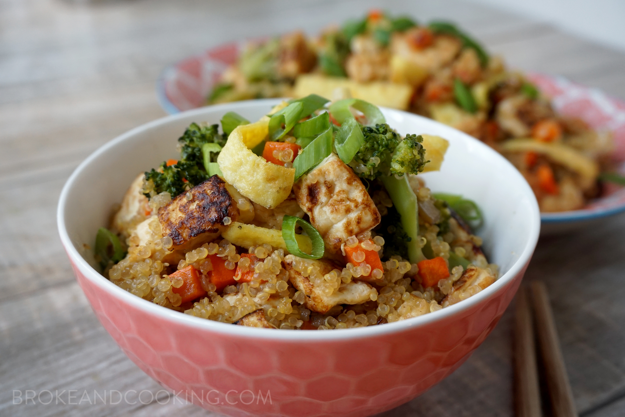 Broke and Cooking Quinoa Fried Rice 23