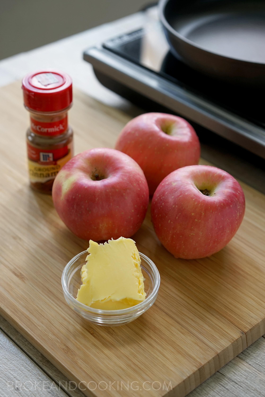 Broke and Cooking Skillet Cinnamon Apples 2