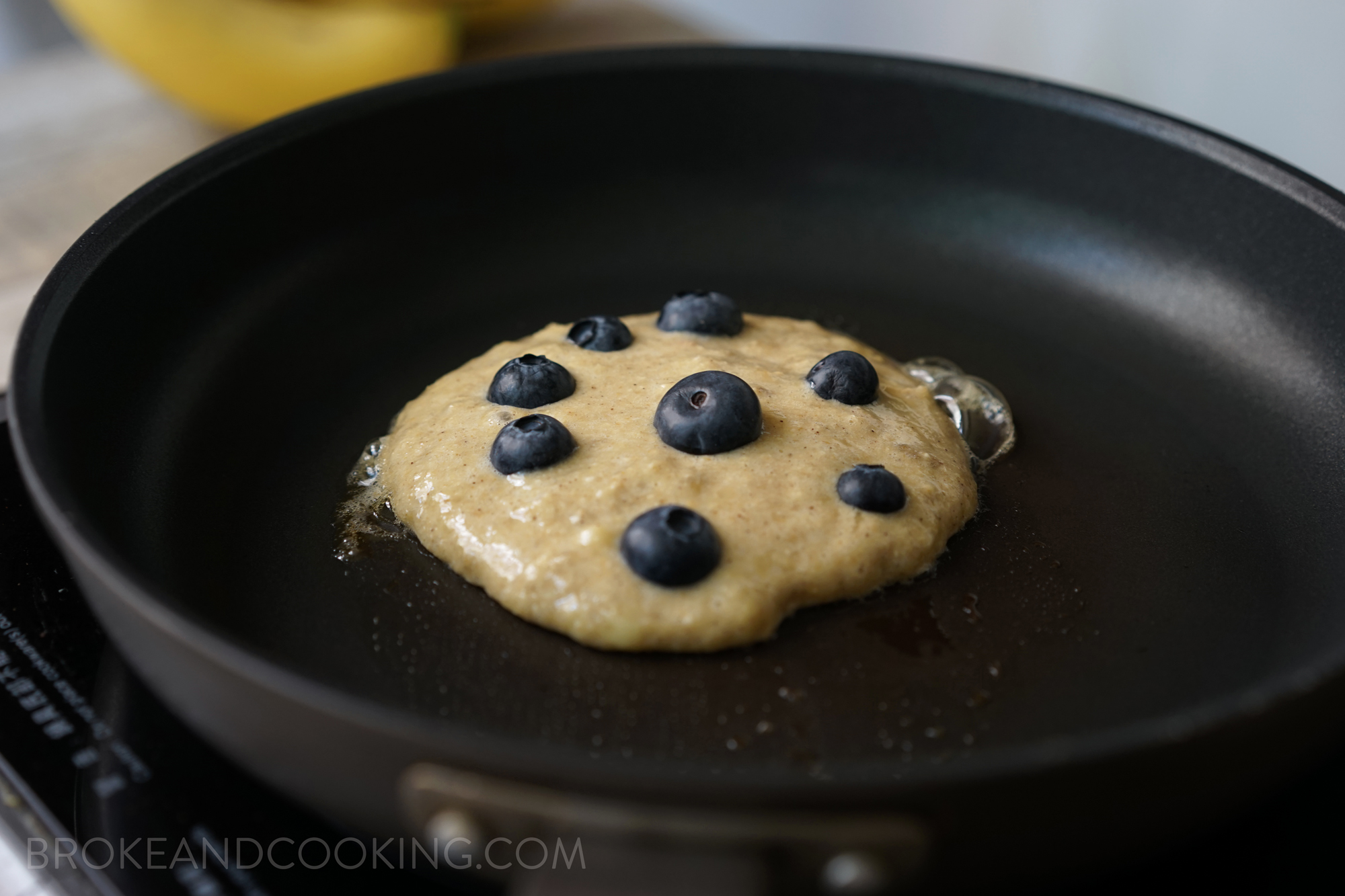 Broke and Cooking Healthy Banana Oat Pancakes 5