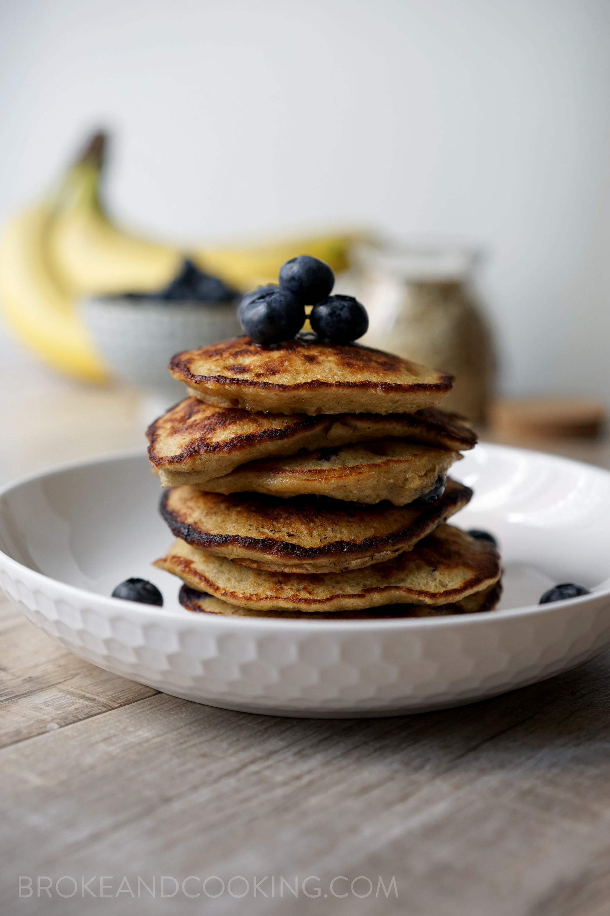 Broke and Cooking Healthy Banana Oat Pancakes 7