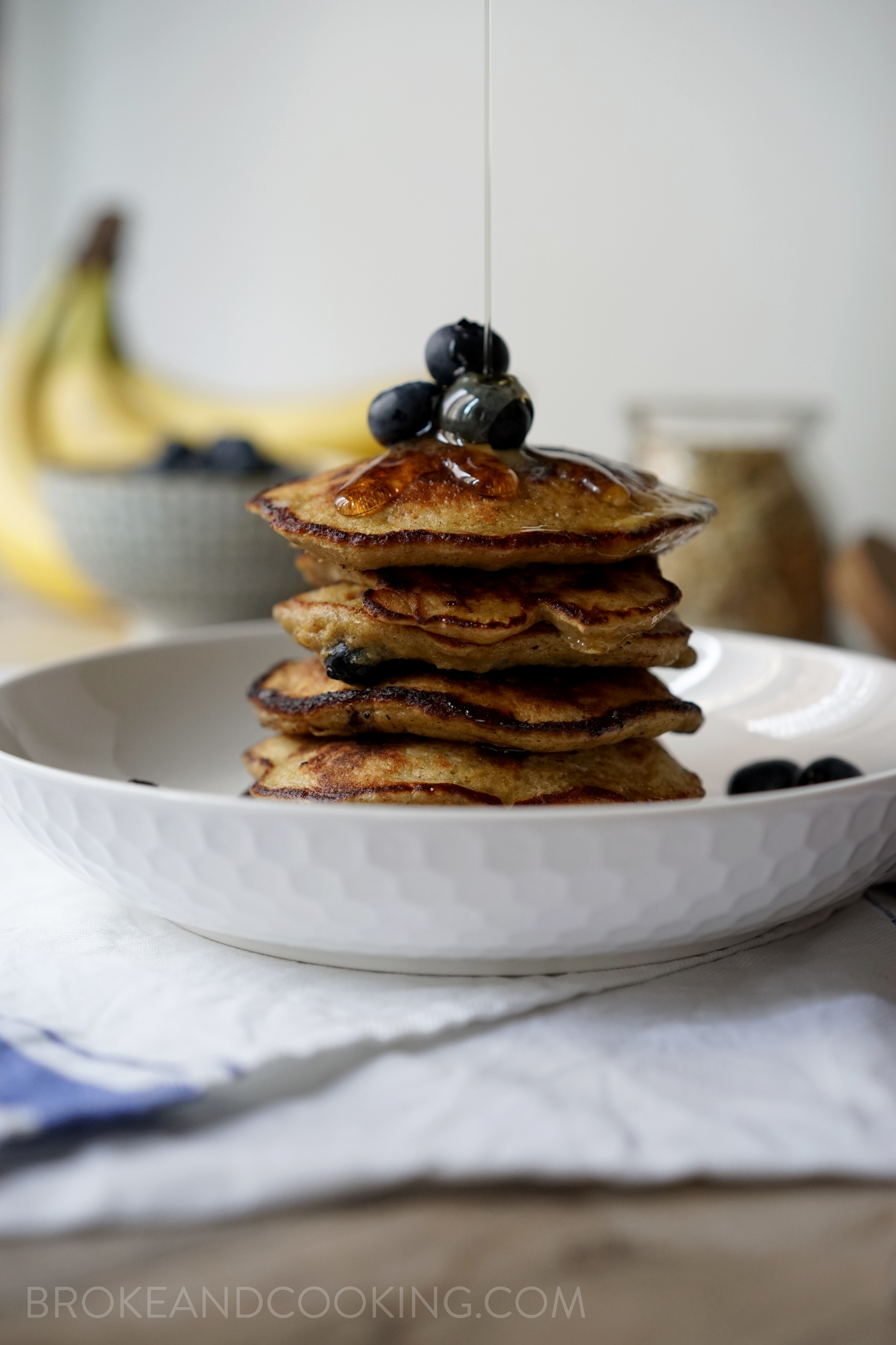 Broke and Cooking Healthy Banana Oat Pancakes 8