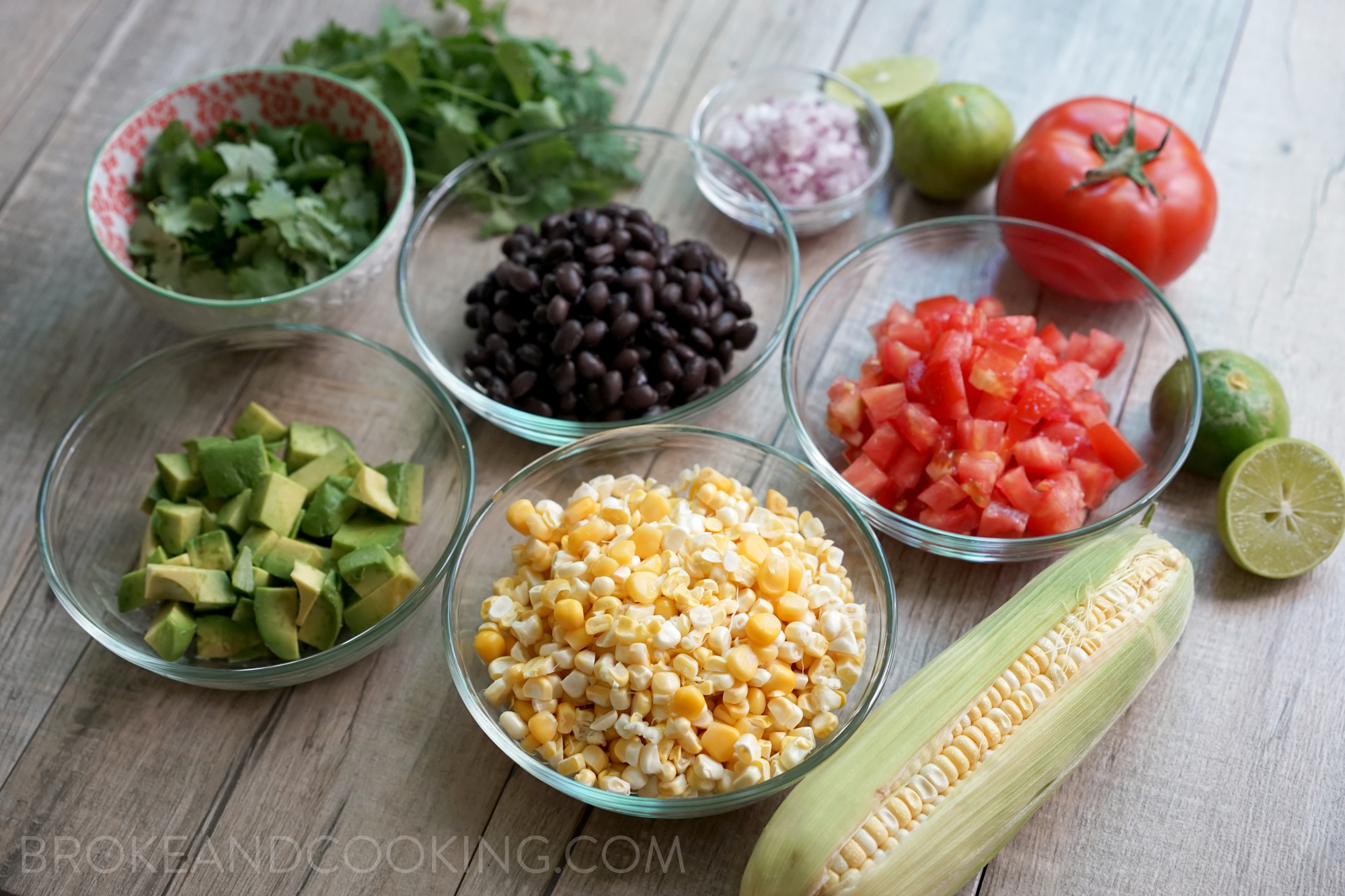 Honey Lime Summer Corn Salsa by Broke and Cooking - www.brokeandcooking.com