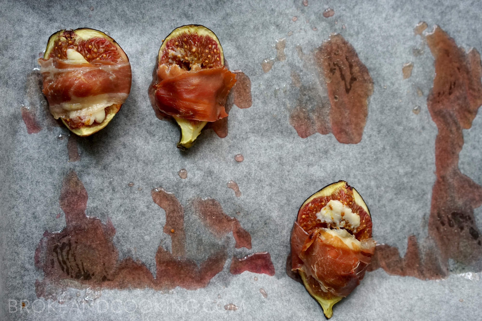 Prosciutto Wrapped Figs Recipe by Broke and Cooking - www.brokeandcooking.com