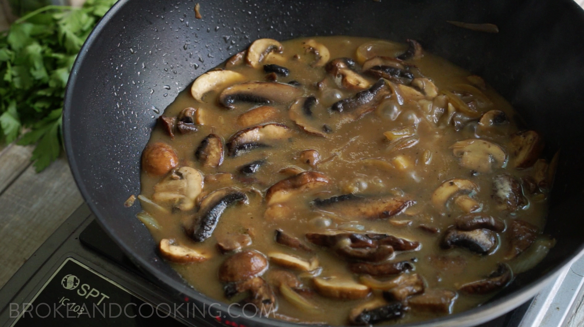Skinny Beef Stroganoff Recipe by Broke and Cooking - www.brokeandcooking.com