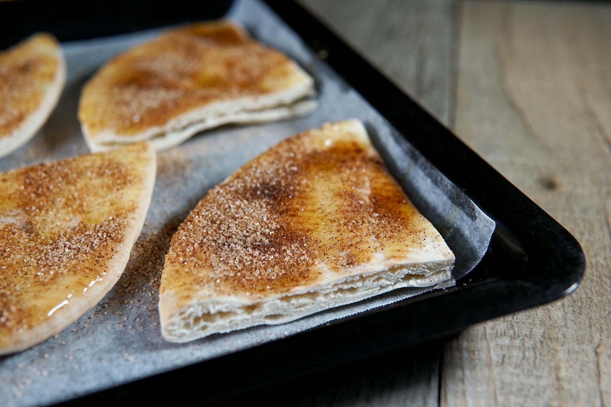 Cinnamon Sugar Pita Chips Recipe by Broke and Cooking - www.brokeandcooking.com