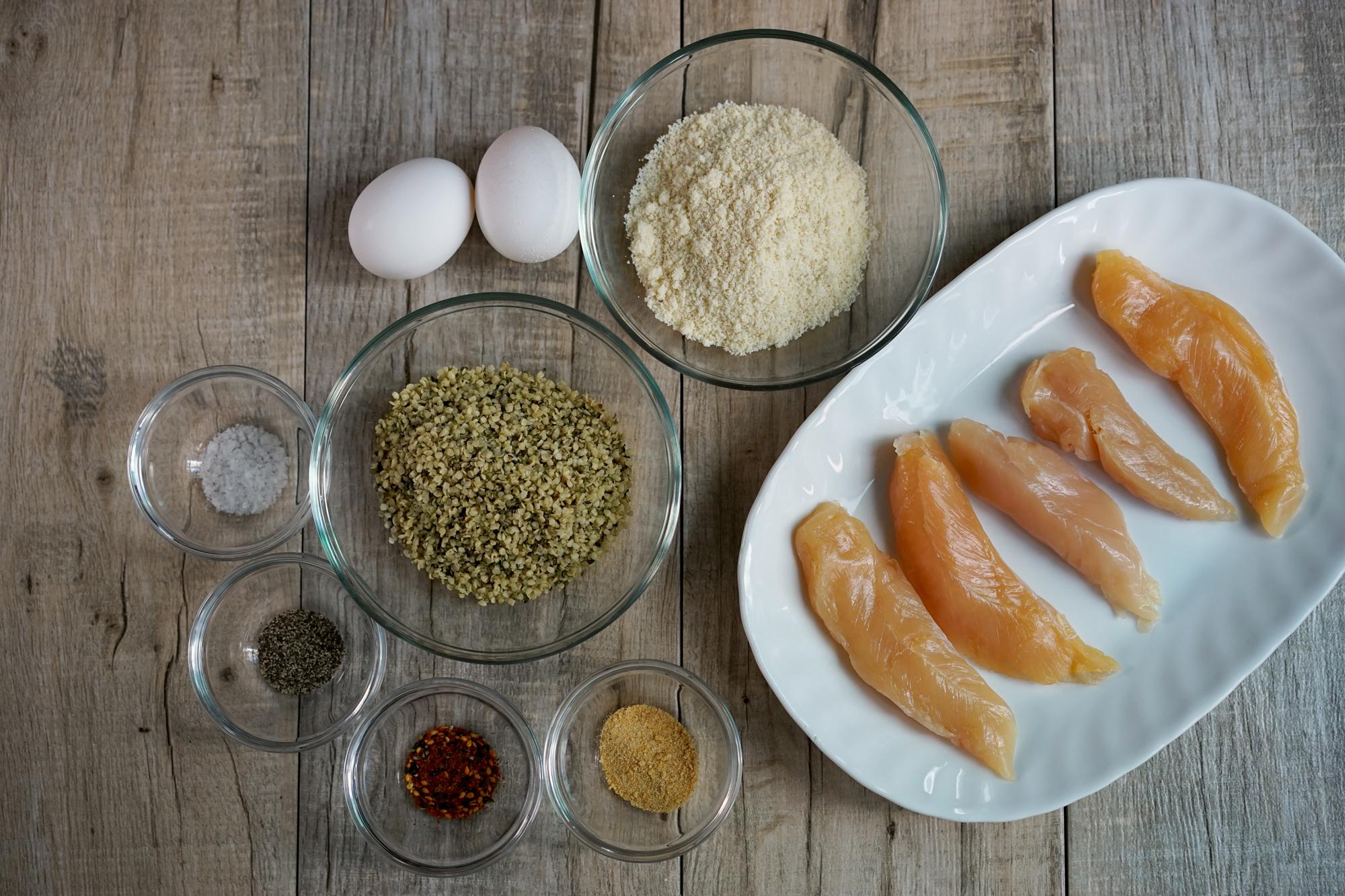 Hemp Crusted Chicken Tenders Recipe by Broke and Cooking - www.brokeandcooking.com