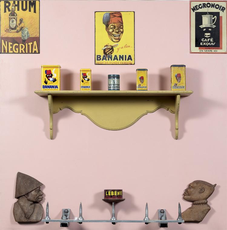 Ya bon, Banania II Assemblage by Jean-Jacques Lebel (1990)