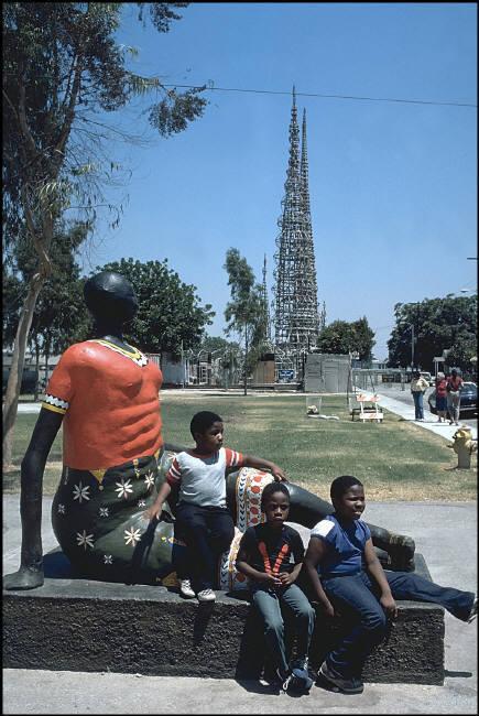 Watts Towers by Ferdinando Scianna (1985)