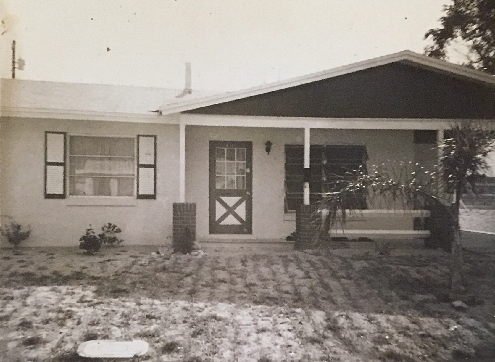Photograph of   621 Cedar Park Drive in Daytona Beach, Florida. From the p  ersonal archive of Renata Cherlise