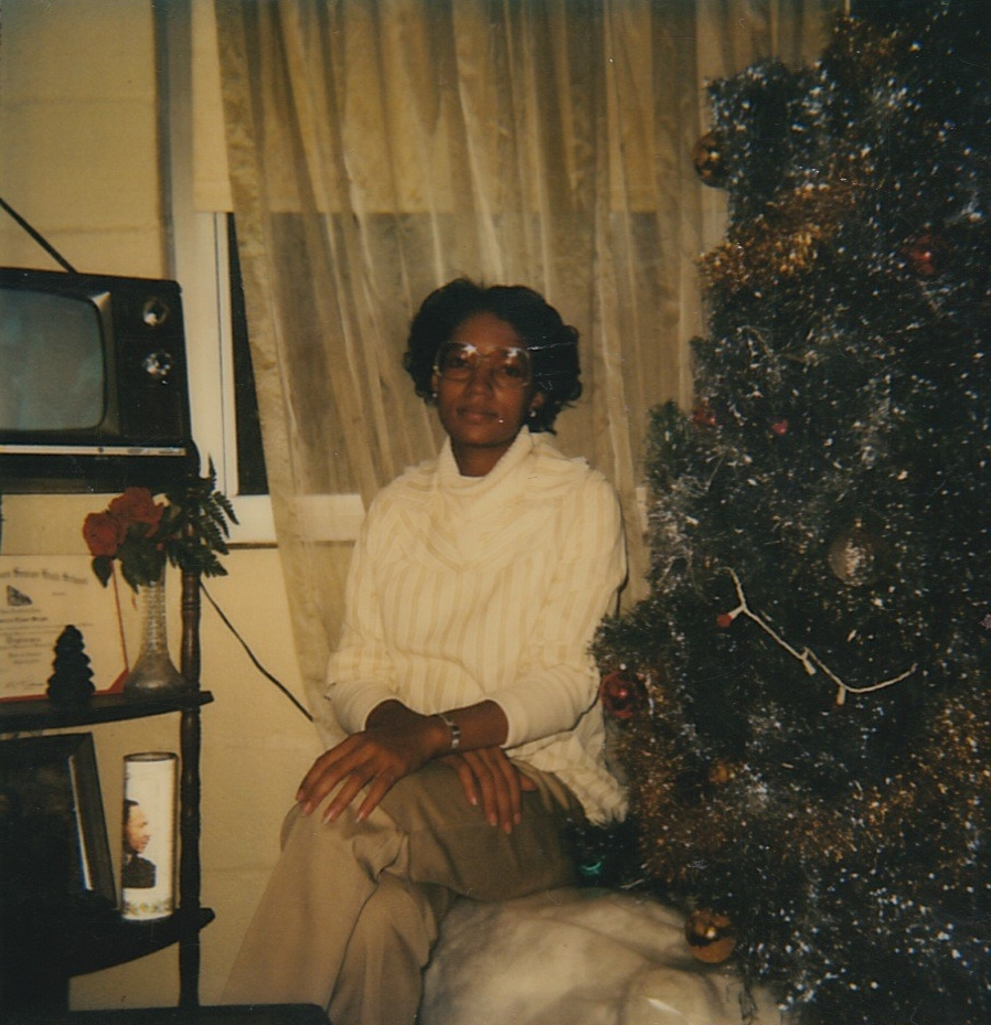 Photograph of my pregnant mother in the Blodgett Homes, December 1981. From the personal archive of Renata Cherlise