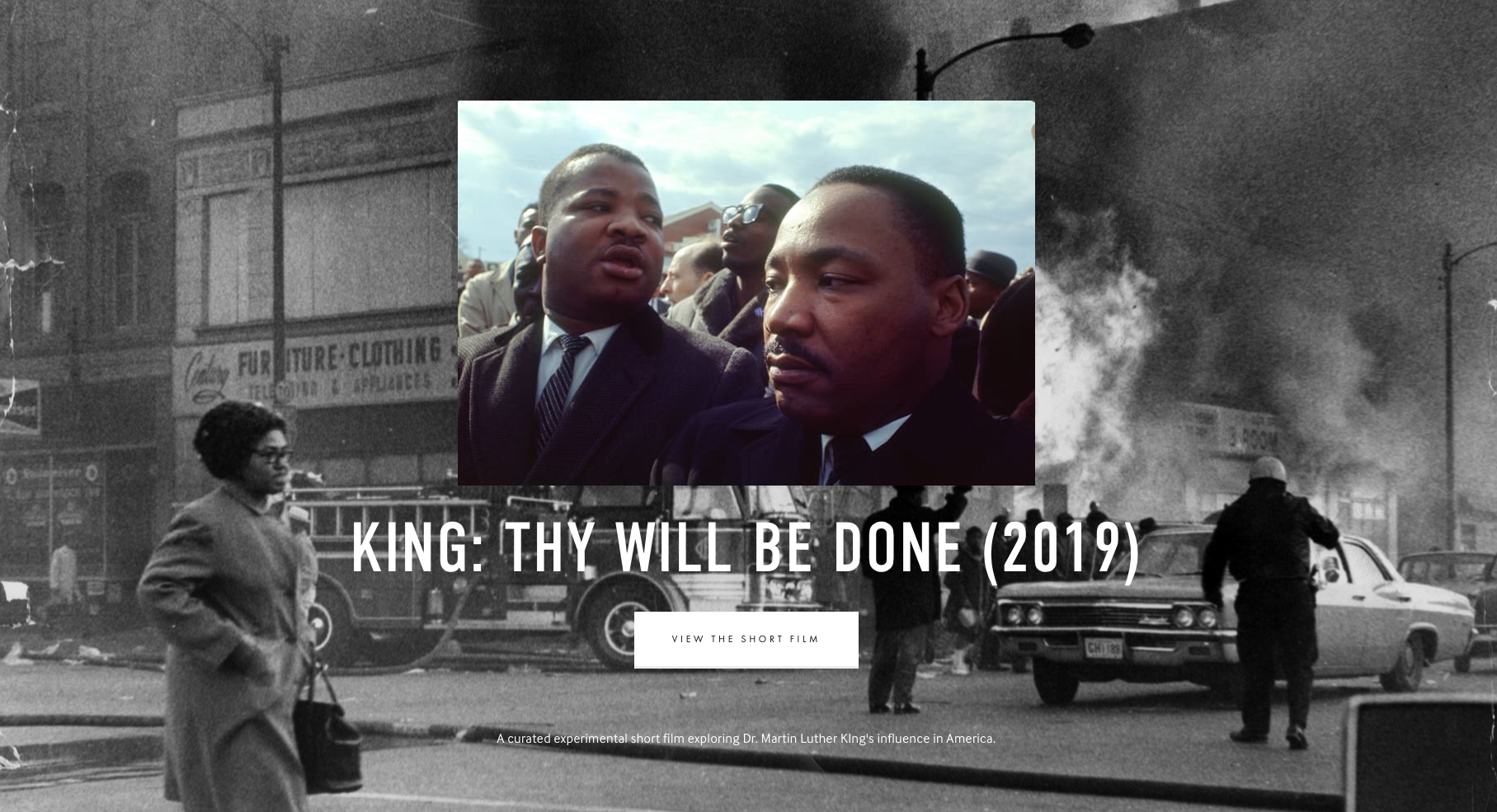 King Thy Will Be Done