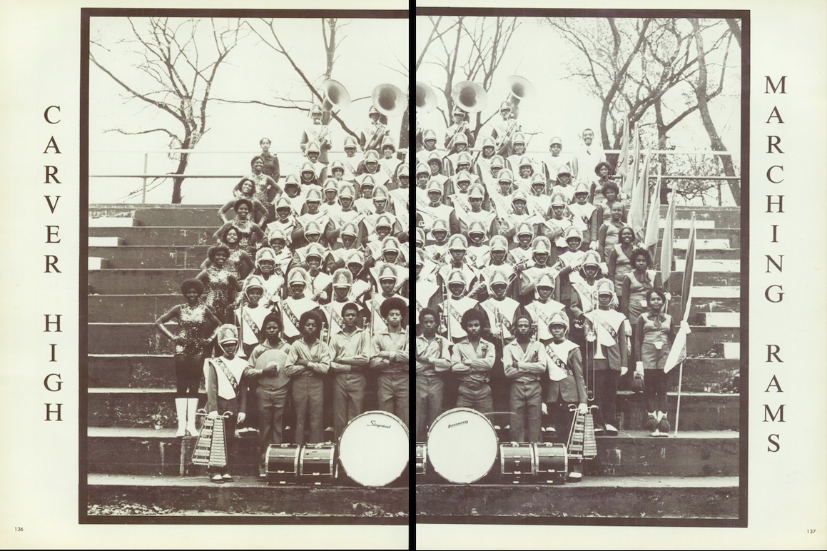 """Carver High in Birmingham, Alabama (1978) from """"The Class of Blackness"""" yearbook project"""