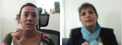 De izquierda a derecha / Ángela Sánchez, Directora Científica de NeuroRehabilitar.Dayra Saavedra, vocera de las madres que buscan acceso a la atención integral para el autismo.