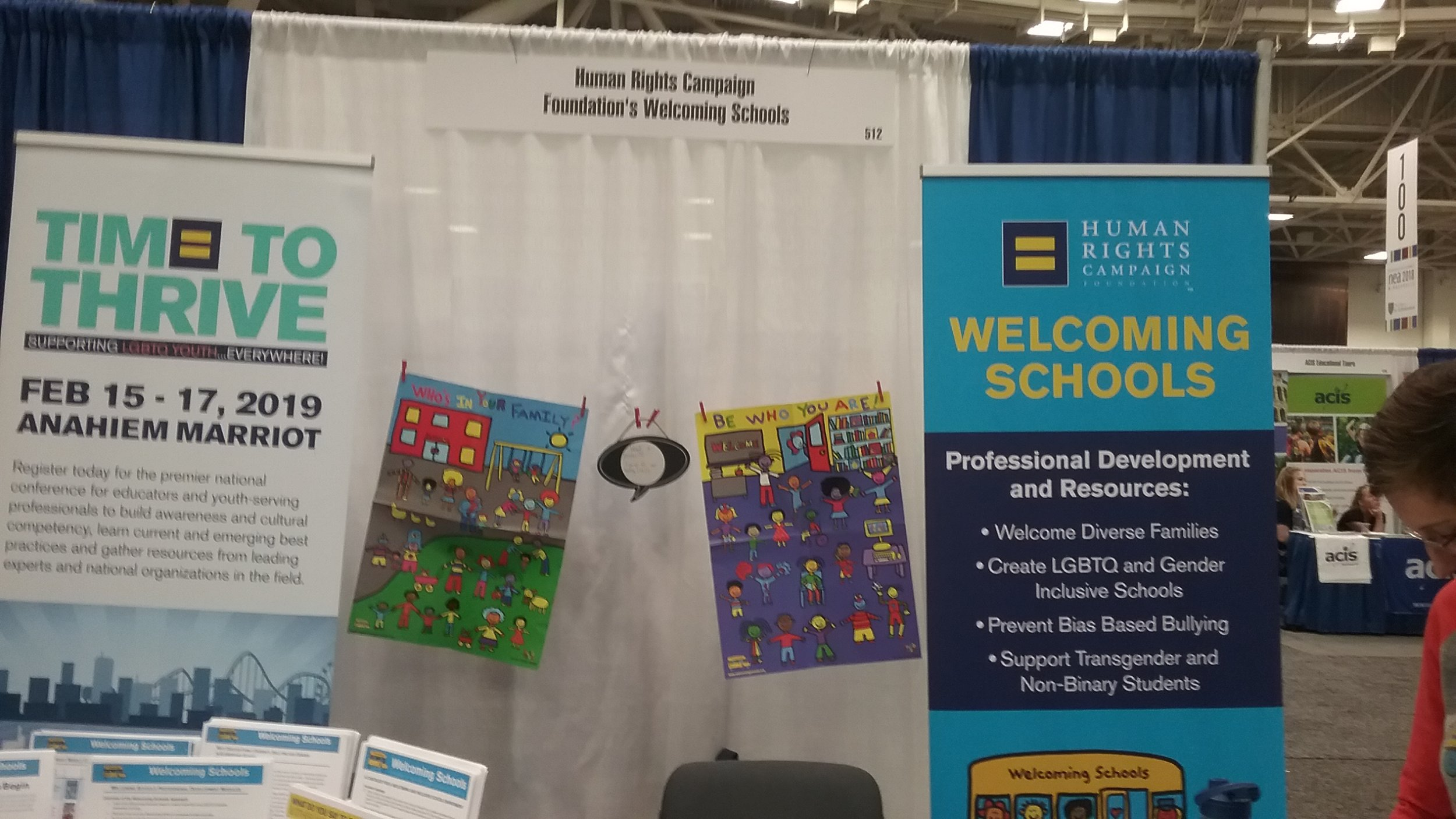 GSF NEA HRC's Welcoming Schools exhibit at NEA Expo, photo  (1).jpg