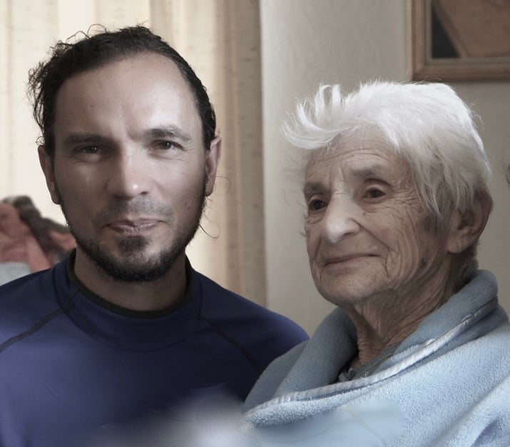 Jesse and Ruth at her home in 2014