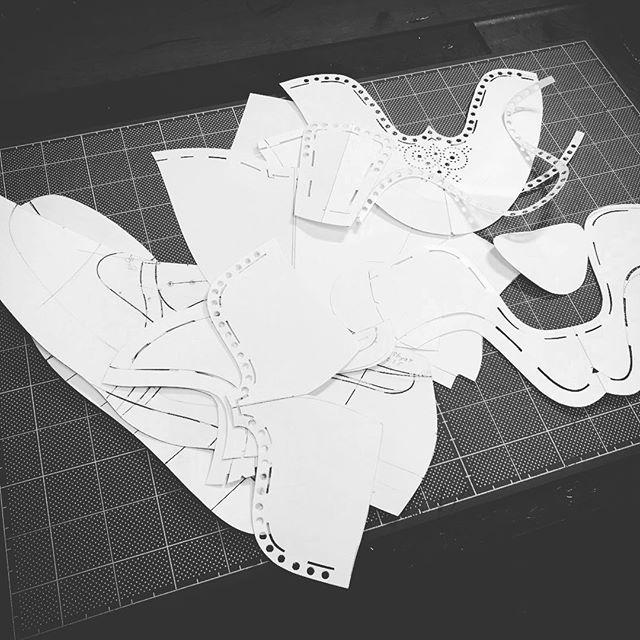 pattern making  #shoemaker  #shoes #注文靴 #fysky