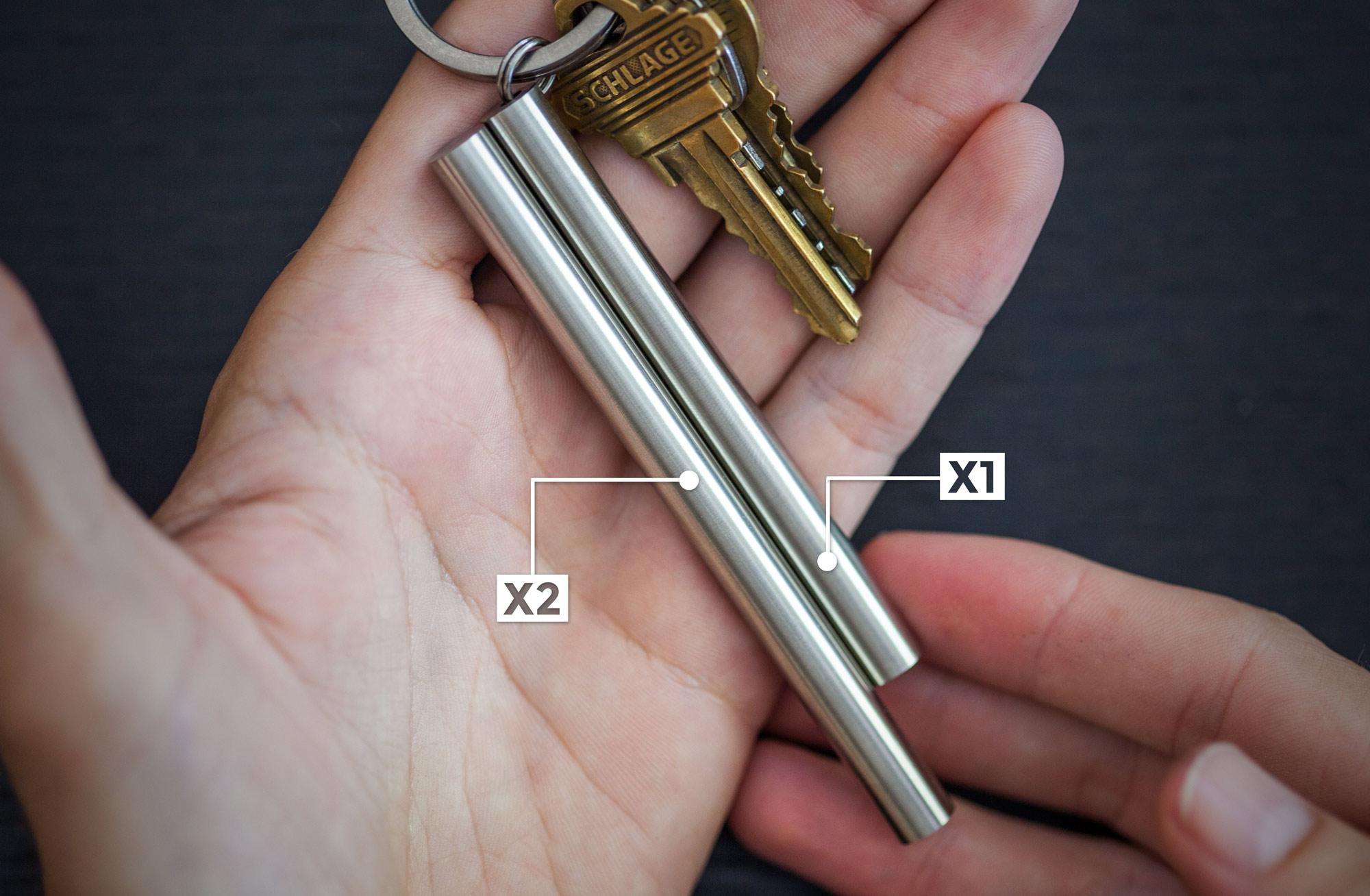 BLANK FORCES - EDC Ink Pen Size Comparison- X1 vs. X2