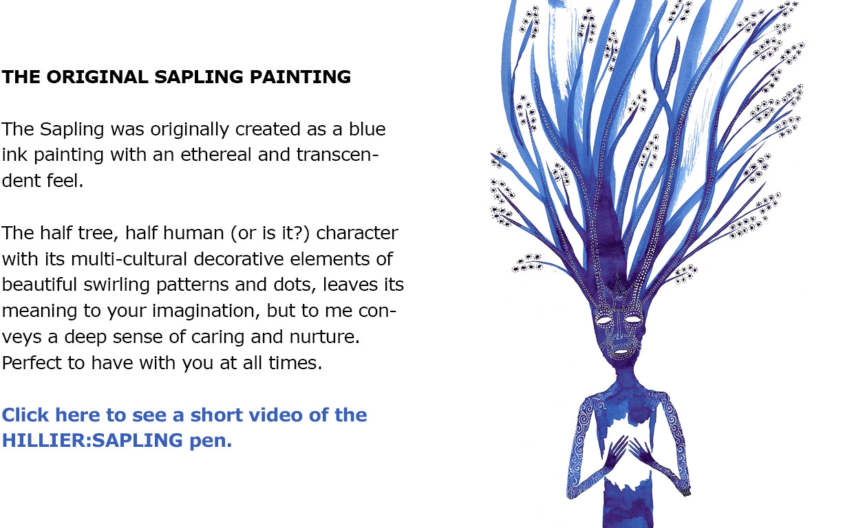 BLANK FORCES - EDC Ink Pen - HILLIER SAPLING Original Artwork